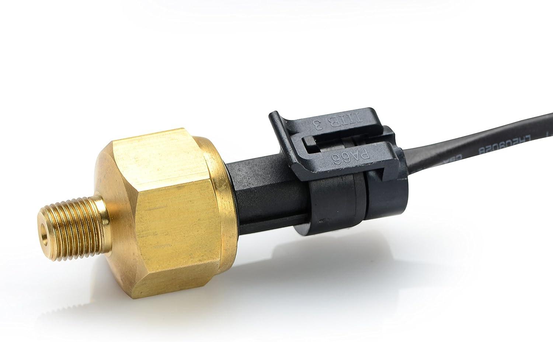 300/PSI Transductor de presi/ón PSI 1//8NPT Rosca Sensor de transductor de presi/ón de acero inoxidable para aceite combustible aire agua