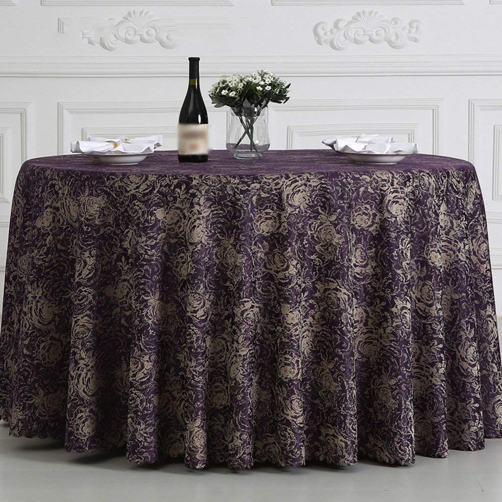 BOSSLV Kitchen Dinning Tabletop Tablecloth Table Cover Country Style Hotel Banquet Clubhouse Coffee Tablecloth Chemical Fiber Multi-Purpose Indoor and Outdoor, Round-300cm by BOSSLV (Image #1)