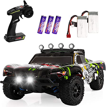 Amazon Com Fast Rc Cars 1 18 Scale All Terrain High Speed Remote Control Car For Adults Kids 25 Mph 4wd Off Road Monster Trucks 2 4ghz Toy Trucks With 2 Rechargeable Battery 40 Min Play Gift For