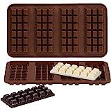 Webake Chocolate Bar Mold Silicone Break-Apart Candy Molds for 1 Ounce Chocolate Chunk Protein Energy Bar Candy Bar…