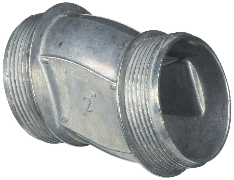 Halex 04020 2-Inch Zinc Offset Nipple