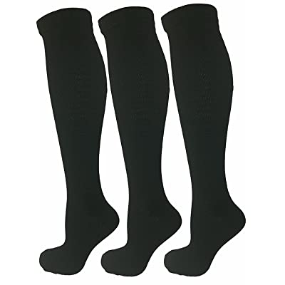 3 Pairs Compression Socks For Women & Men (15-20mmHg) - Best Fit for Running,Shin Splints,& Maternity Pregnancy.Circulation,Recovery,Nurses,Travel&Flight!