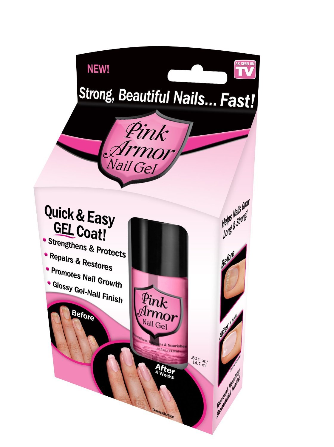 Pink Armor Nail Gel by Pink Armor, 2 Count by Pink Armor