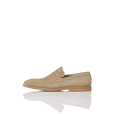 Brand - find. Men's Suede Loafer, Beige, US 13: Shoes