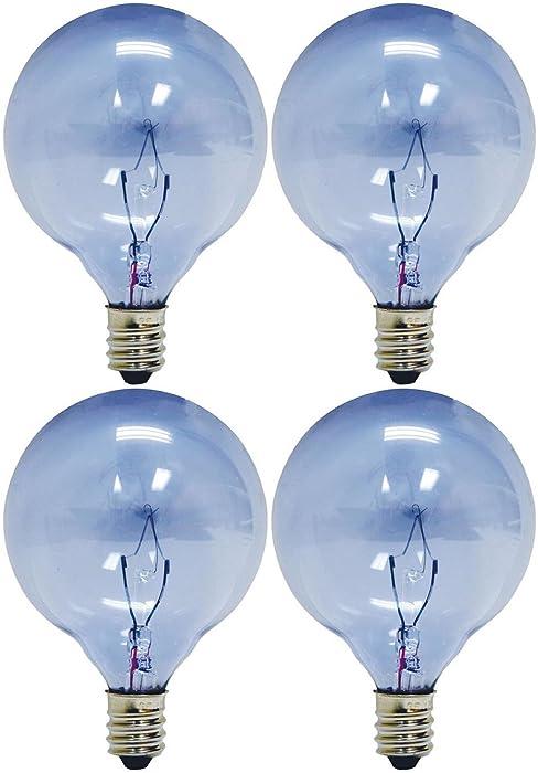 GE Lighting 48704 40-Watt Reveal Candelabra Globe G16.5, 4 Bulbs