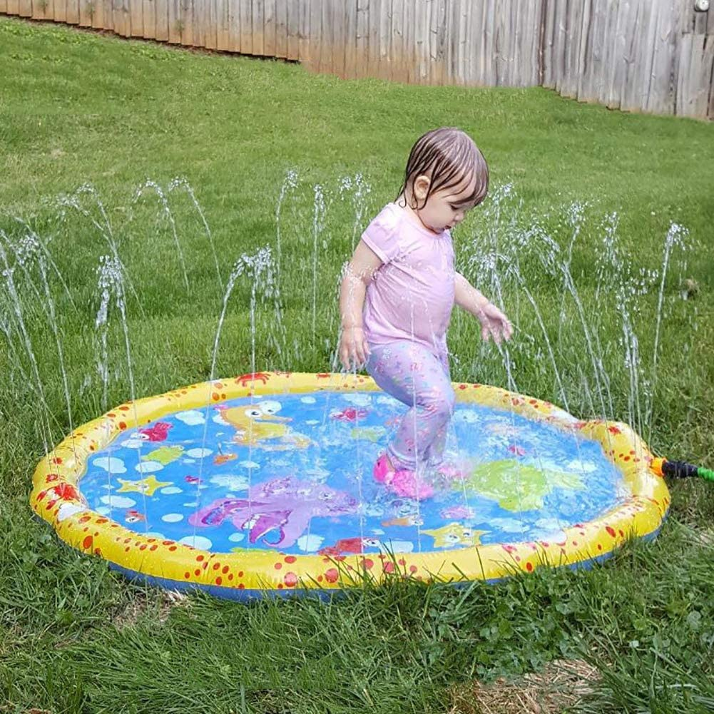 100cm Sprinkle And Splash Water Play Mat,Summer Garden Outdoor Spray Toy