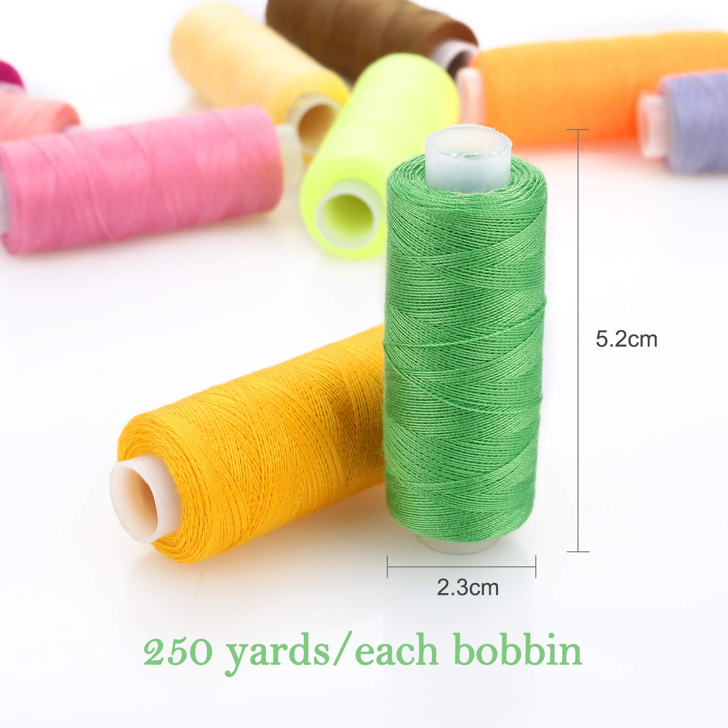 Sewing Thread 24 Colour 1000 Yards Each Spool SOLEDI Sewing Kit with 16 Sewing Needles and 2 Needle Threader 42 Pcs Suitable for Sewing by Hand and Sewing by Machine