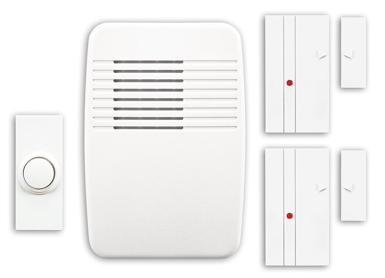 Heath Zenith SL-7352-02 Wireless Plug-In Chime Kit with Entry Alert (White)
