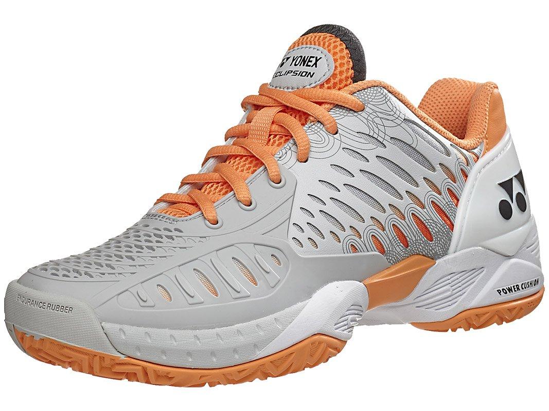 Yonex SHT Eclipsion Women's Tennis Shoe Grey/Orange (7.5)