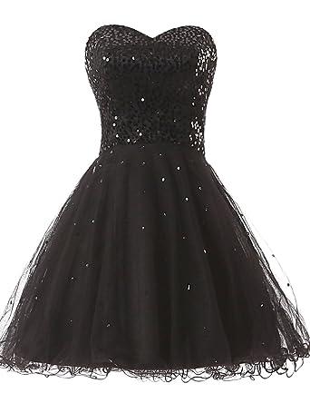Beaded Tulle Short Prom Dresses