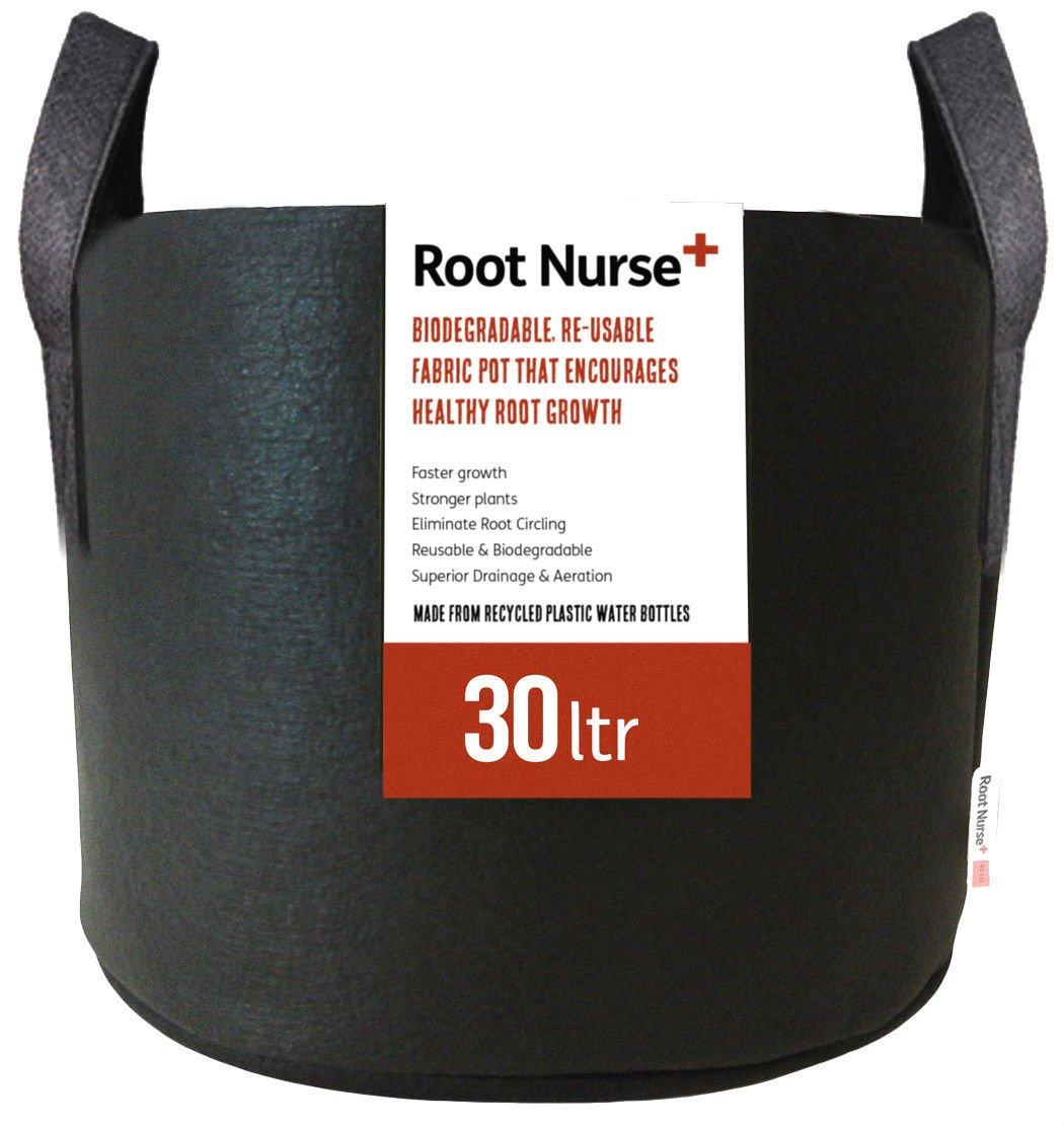 4 x Root Nurse Fabric Pot, Breathable Pots, Hydroponics Grow Bag Container Plant Litre (4 x 1Ltr)