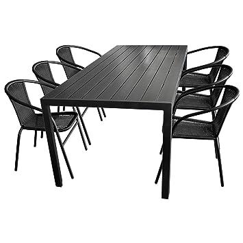 Amazon.de: 7tlg. Gartenmöbel Set Aluminium Polywood / Non Wood ...
