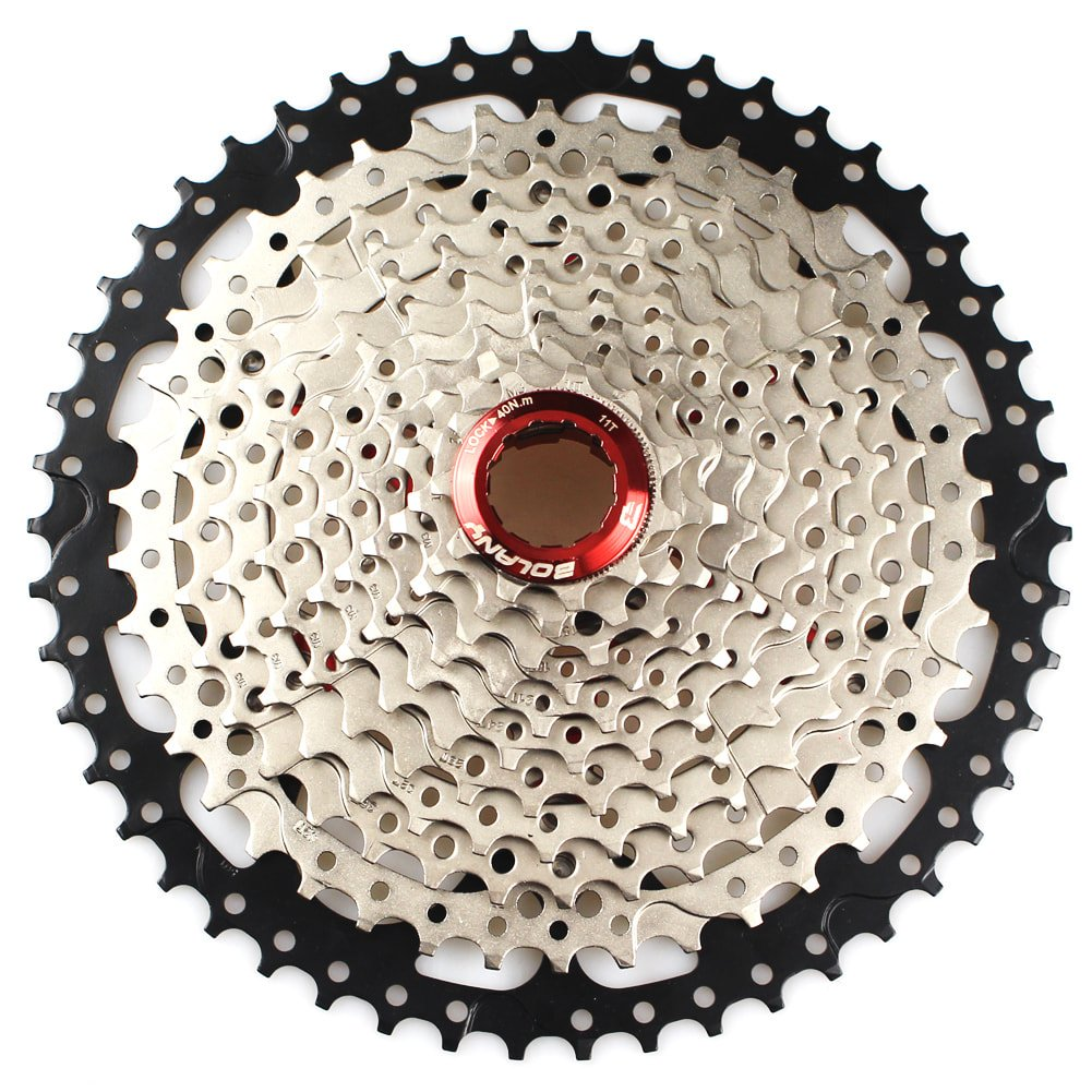 11 Speed Cassette 11-50T MTB Cassette 11 Speed Fit for Mountain Bike, Road Bicycle, MTB, BMX, SRAM, Shimano