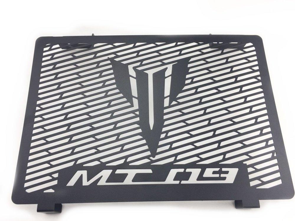 Protection de grille de radiateur pour Yamaha Mt09 2013 2014 2015 2016 2017 Water Cooler Guard Housse de protection pour radiateur (Noir mat) MADRACING