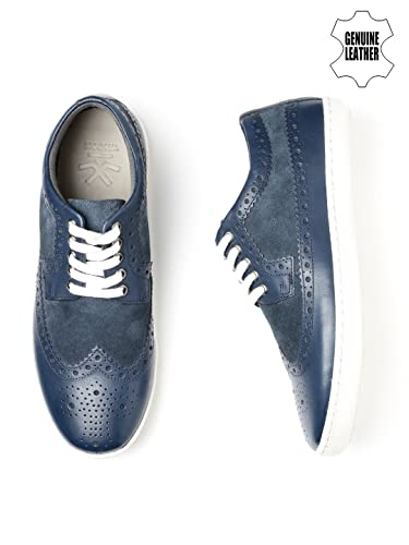 WROGN Men Blue Leather Casual Shoes (10UK)