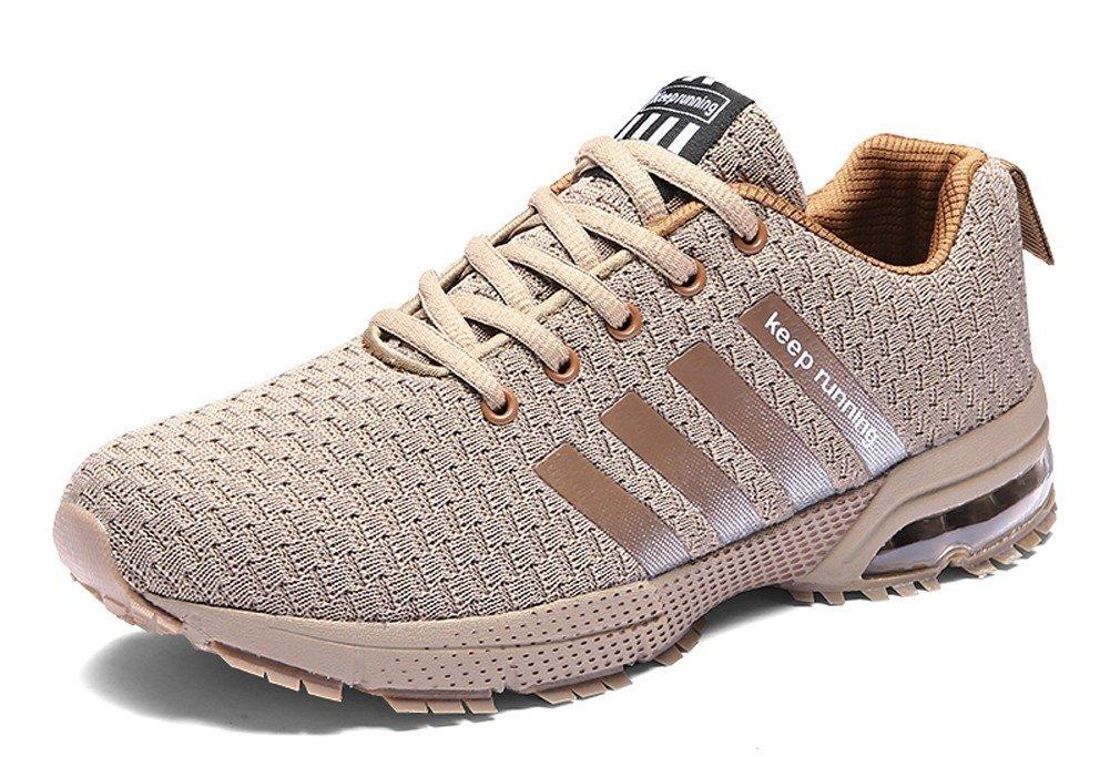 JiYe Athletic Shoes Men's Women's Outdoor Casual Jogging Walking Fashion Sneaker,Beige,36EU=4US-Men/5.5US-Women