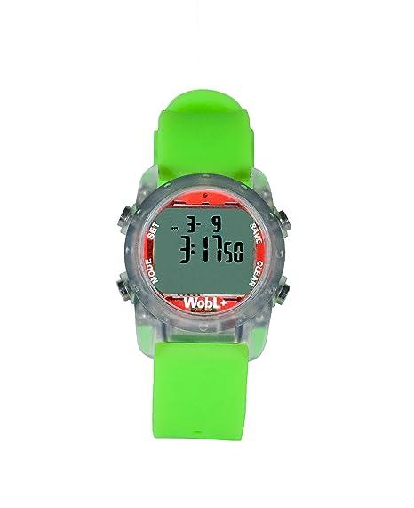 WobL + (VERDE) reloj recordatorio vibrante a prueba de agua | Entrenamiento para ir