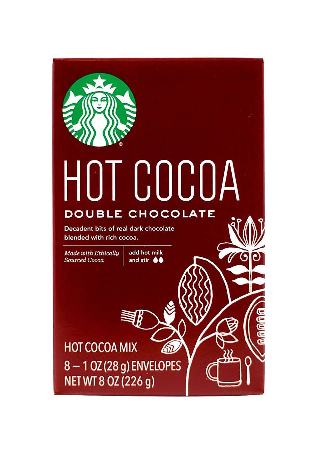 Starbucks Hot Cocoa Mix, Double Chocolate, 8-Count (Pack of 3)