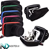 Camera Case Hard Shell -Black - Compatible with Nikon 1 AW1 with 11-27.5mm lens