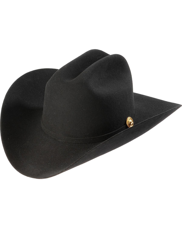 Larry Mahan Men's Felt 5X Norte Cowboy Hat Black 7