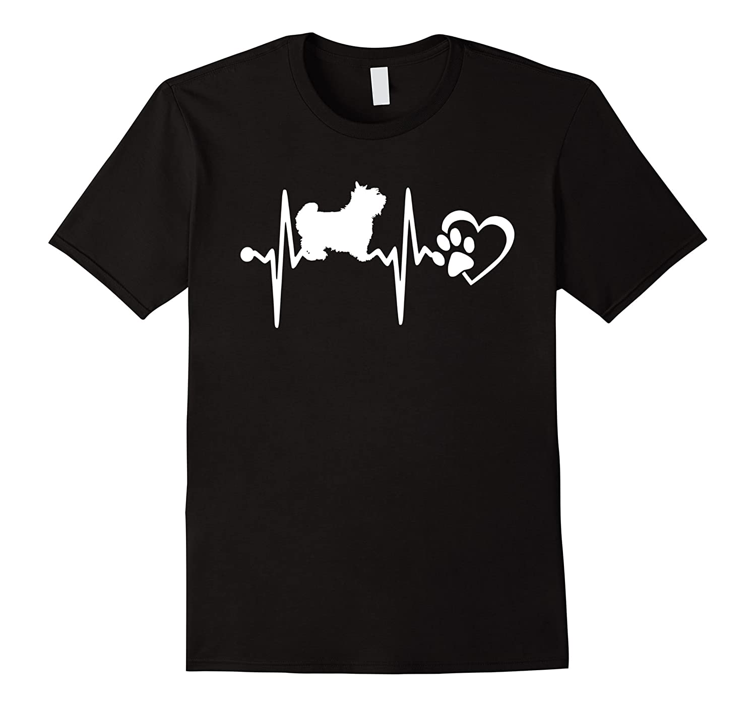 Yorkshire Terrier HEARTBEAT DOG T-SHIRT-TH