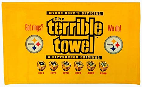 7d6fc4a7f98 Image Unavailable. Image not available for. Color  Pittsburgh Steelers  Terrible Towel 6X Super Bowl ...