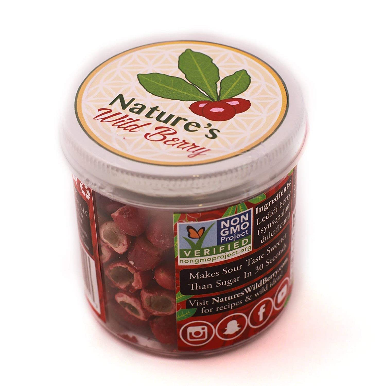"The 6oz Medium Jar | BEST WAY TO ADD VEGGIES & CUT SUGAR DAILY SAVING MORE | 100% Premium Ledidi Fruit | Turn Sour Sweet With Flavor Changing Berries AKA ""Miracle Berry"""