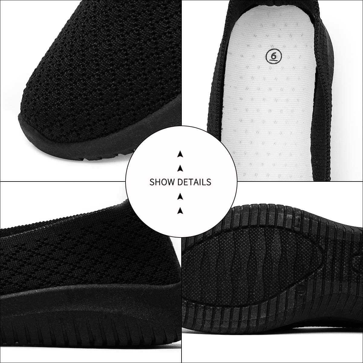 BENPAO Womens Slip On Loafers Shoes Knit Mesh Sneakers Breathable Walking Shoes for Women