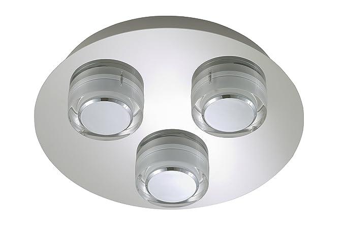 Plafoniere Bagno Led : Briloner leuchten plafoniera da bagno led plastica e