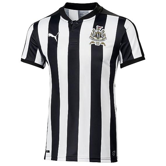 d8050c3fc Puma Newcastle United 2017 18 Home Shirt Junior  Amazon.co.uk  Clothing