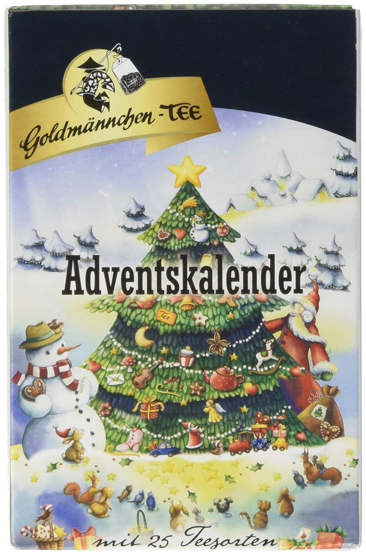 Weihnachtskalender Tee.Goldmännchen Tannenbaum Adventskalender Mit 24 Verschiedenen Teesorten 1er Pack 1 X 50 55 G