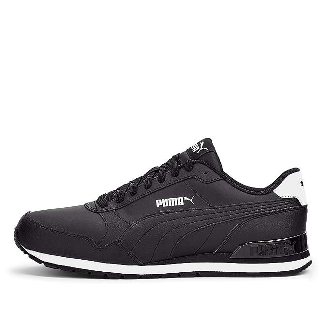 Buy Puma Men's Black Leather Sneakers-8