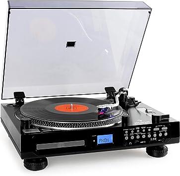Auna TT-1200-Tocadiscos, K7 multimedia con CD, radio FM y ...