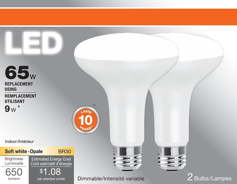 SYLVANIA, 65W Equivale...100w Equivalent Soft White A19 Led Light Bulb