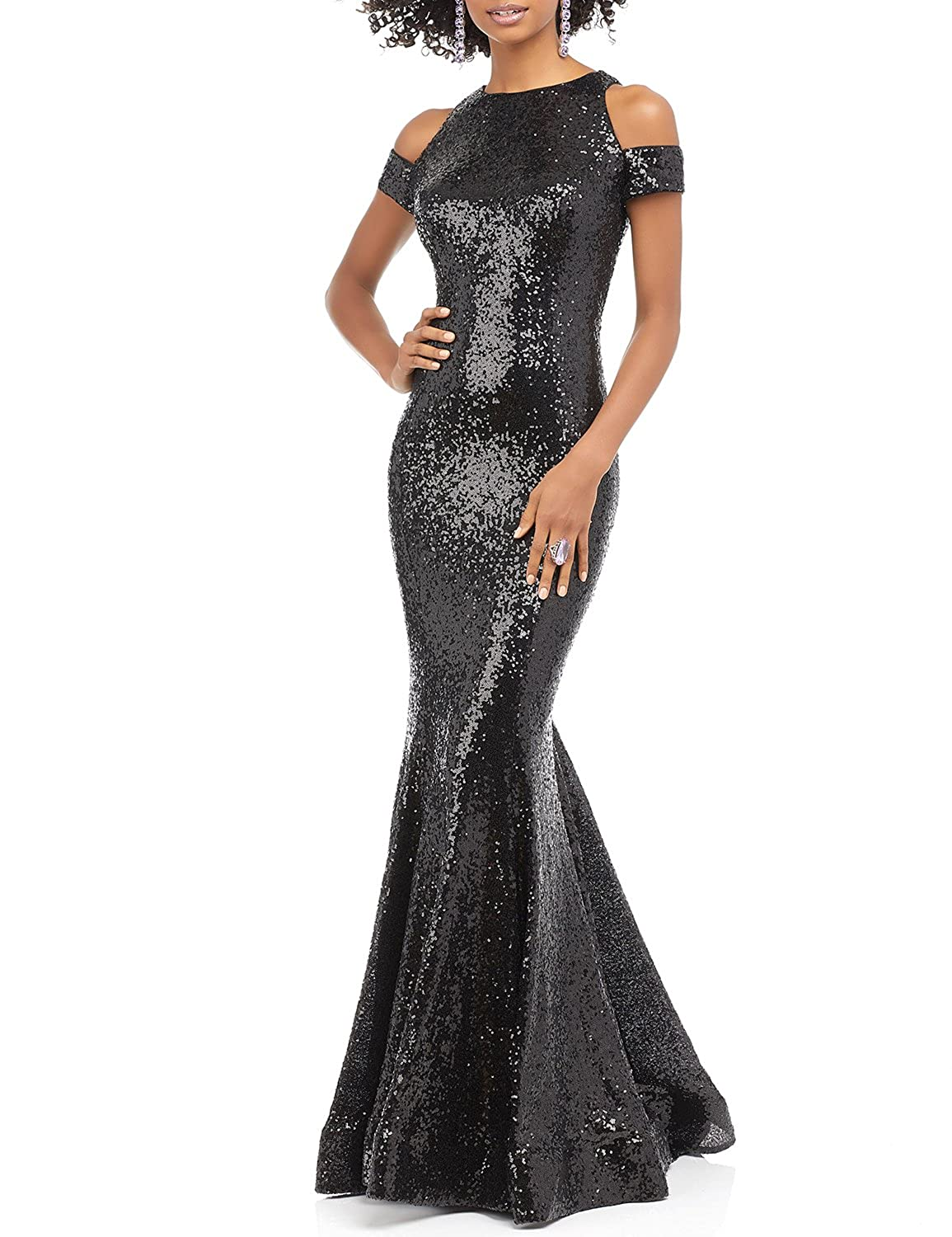 366703fcdc9c DarlingU Womens Mermaid Off Shoulder Evening Prom Party Gown Split  SequinedPM792 at Amazon Women s Clothing store