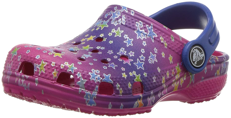 crocs Unisex-Kinder Classic Graphic Clog Kids Mehrfarbig (Multi Stars)