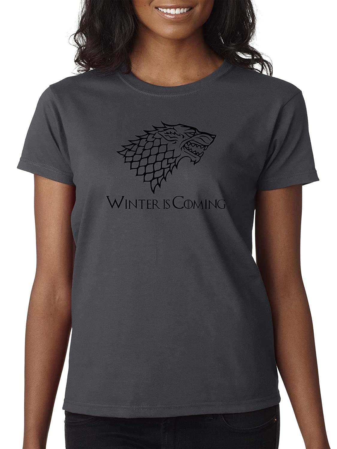Charcoal Trendy USA 1216  Women's TShirt Winter is Coming Stark Sigil Game of Thrones