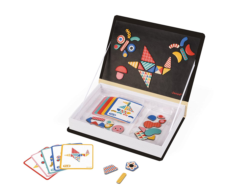 Janod MagnetiBook Moduloform, Colore Nero, J02720 Juratoys
