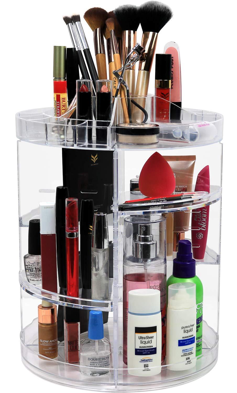 HEYNEMO Acrylic Cosmetic Storage Organizer Drawers Makeup Storage Display Boxes 2 Piece Set 3 Large Drawer