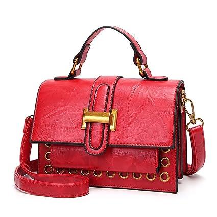 77c4d9cf4 RMXMY Señoras Bolsos de Moda Hombro Retro Messenger Bag Cera Aceite  Estereotipos de la Piel pequeña