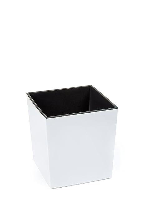 Einsatz Für Pflanzkübel.Kreher Xxl Design Pflanzkübel Aus Kunststoff In Hochglanz Weiß Mit Herausnehmbaren Einsatz Maße Bxtxh In Cm 40 X 40 X 41 Cm
