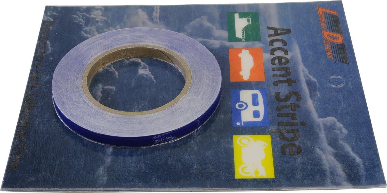 3mil Vinyl 1//4 x 50 LinearDesigns One Quarter Inch Solid Stripe for Auto Truck Boat Black