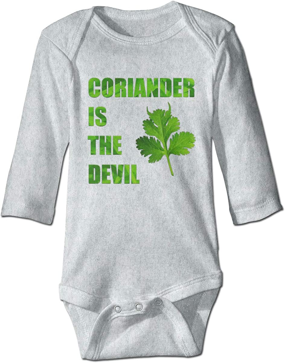 Marsherun Babys Boys Girls I Hate Coriander Logo Long Sleeve Bodysuits Playsuit