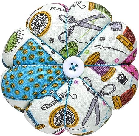 D/&D Pin Cushion Wrist Pumpkin Pin Cushions Wearable Sewing Needle Pincushions for Needlework Sewing Pattern Green