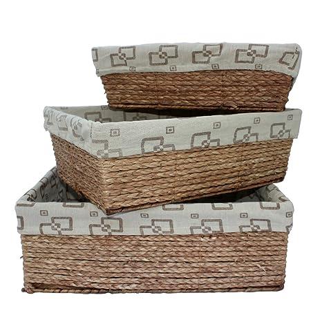 Cestas de almacenamiento, cajas y cajas de almacenamiento, juego de 3