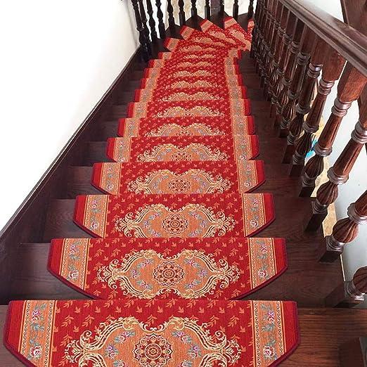 World-ditan Escalera Alfombra-Escalera Alfombra para escaleras Pegamento Autoadhesivo Escalera Alfombra Antideslizante para el hogar (Color : ARC(1piece), Tamaño : 80 * 24cm): Amazon.es: Hogar