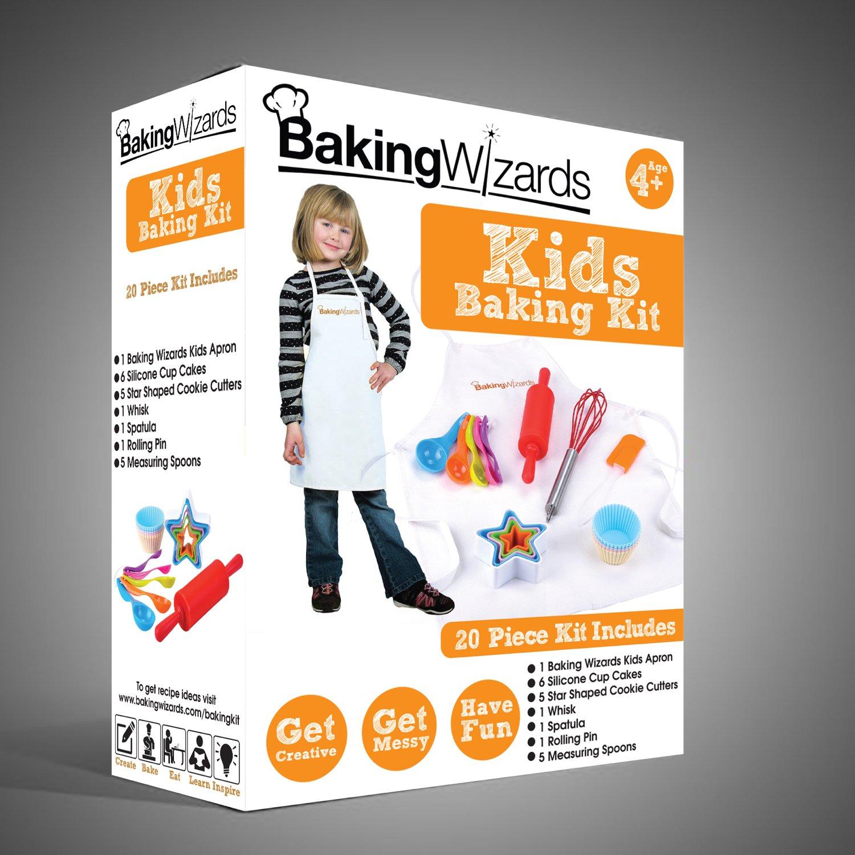 Juego de 20 piezas de cocina para niños con utensilios de cocina reales para cocinar y hornear a los niños – el mejor regalo para niños y niñas A2Z WIzards Ltd