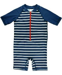 273c838ffaaa RuggedButts Baby Toddler Boys Striped One Piece UPF 50+ Sun Protection Baby  Rash Guard