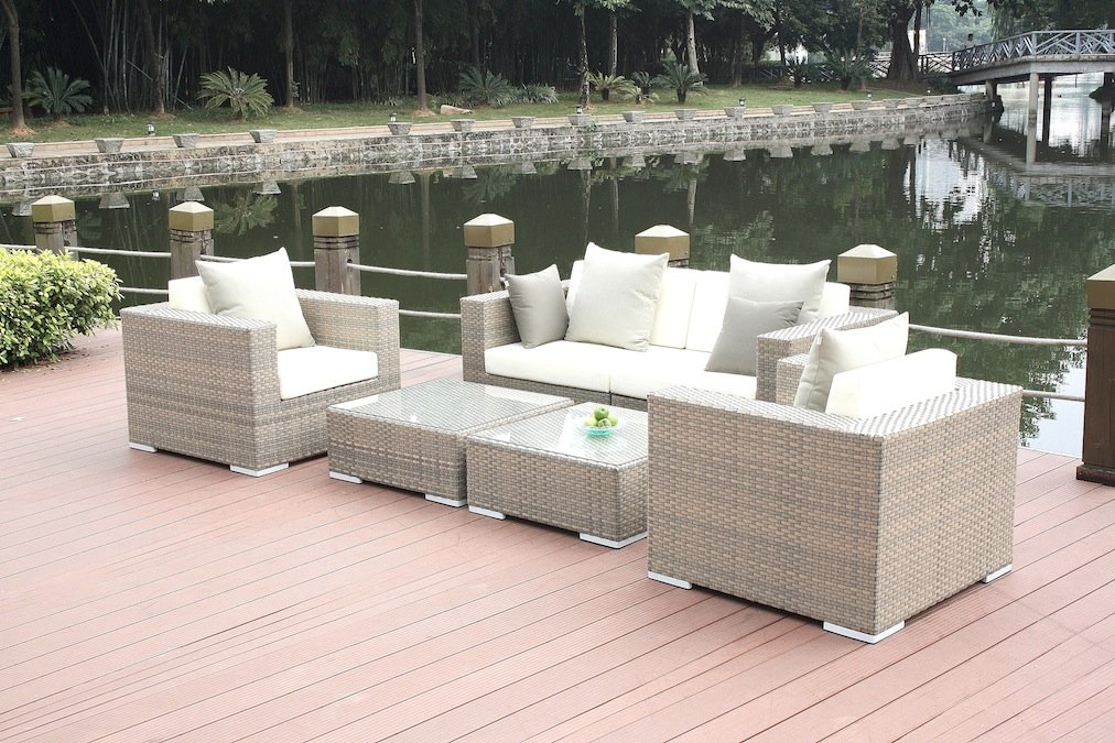 Rattan lounge grau günstig  talfa Rattan Gartenmöbel Lounge Tapa - grau günstig bestellen