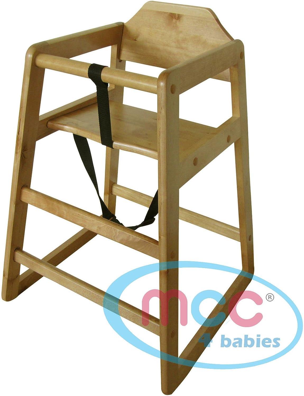 Trona de madera apilables alta silla hogar y restaurantes ...